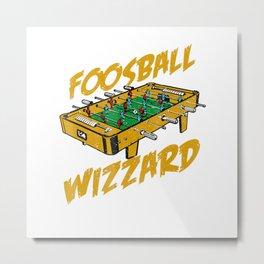 Foosball T-Shirt, Foosball Wizzard Gift Metal Print