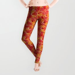 Gummy Sour Peach Rings Photo Pattern Leggings