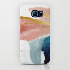 Exhale: a pretty, minimal, acrylic piece in pinks, blues, and gold Galaxy S8 Slim Case