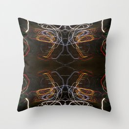 Abstract Lighttrails 1018 Throw Pillow