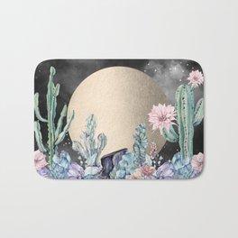 Desert Nights Gold Moon and Gemstones Bath Mat