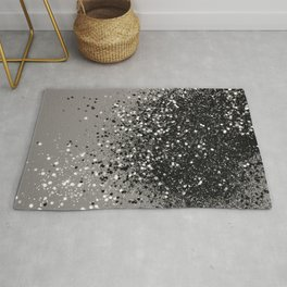 Silver Gray Glitter #1 #shiny #decor #art #society6 Rug
