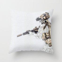Ready - by Nous Defions Designs. (www.nousdefionsdesigns.com) Throw Pillow