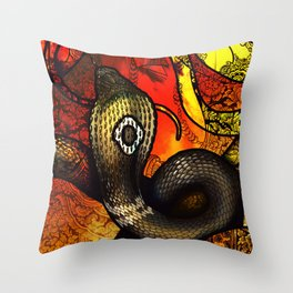 Monocled Cobra Throw Pillow