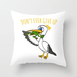 Looking For An Inspirational Shirt? Here's Is A Never T-shirt Saying Never Give Up T-shirt Design Throw Pillow