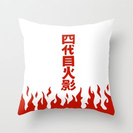 Will of Fire Minato  Throw Pillow