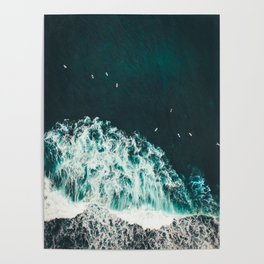 Aerial Ocean Photography Nature Poster