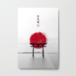 JAPANESE HINOMARU FLAG SIGNS Metal Print