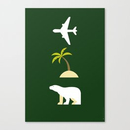 Iconic TV Shows: Lost Canvas Print