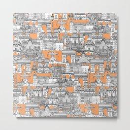 Paris toile cantaloupe Metal Print
