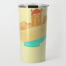 Lama Noodle Ramen Soup Vintage Retro Travel Mug