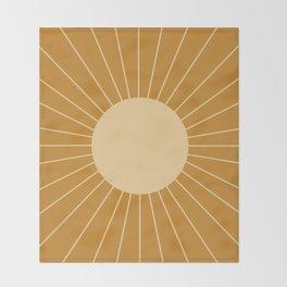 Minimal Sunrays - Golden Throw Blanket