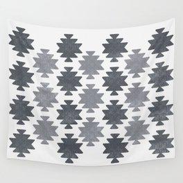 Southwestern pattern light grey Wall Tapestry