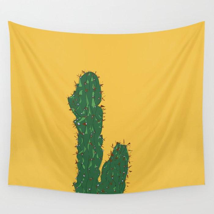 Mexico City (Ciudad de México), Mexico Cactus Travel Poster Wandbehang