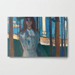 Edvard Munch - Summer Night. The Voice Metal Print