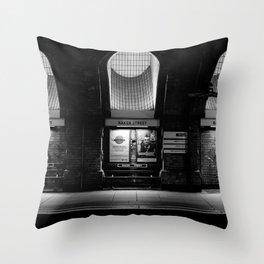 Alight here for Sherlock Holmes - Baker Street Tube Throw Pillow