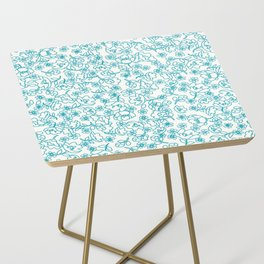 Turquoise Flowers Side Table