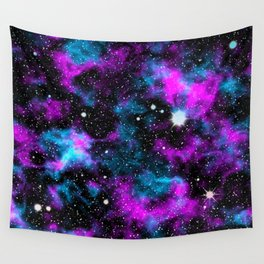 Neon Galaxy Deep Space Wall Tapestry