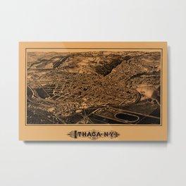 Map Of Ithaca 1882 Metal Print
