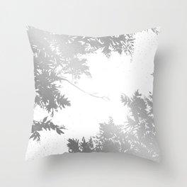 Night's Sky Silver Throw Pillow