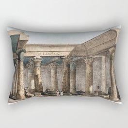 Giovanni Battista Belzoni - View of the interior of the temple Rectangular Pillow