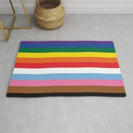 ALL THE COLORS OF LGBTQI+ QUEER COLOUR STORY UNITY Rug