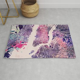 New York Mosaic Map #1 Rug