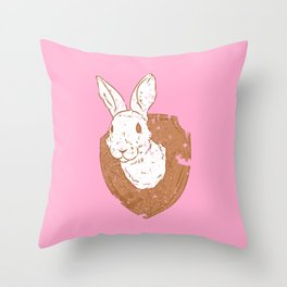 Easter is coming Throw Pillow
