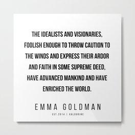 23      Emma Goldman Quotes   200602 Metal Print