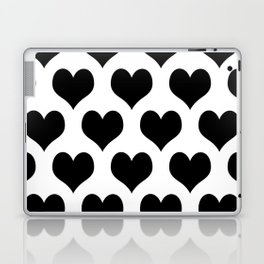 White And Black Heart Minimalist Laptop & iPad Skin