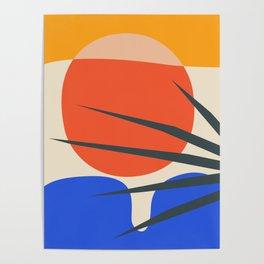 Mid Century Modern Abstract Wall Art Print, Yellow And Black Abstract Print, Modern Retro Art, Livin Poster
