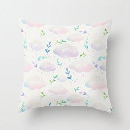April clouds Throw Pillow