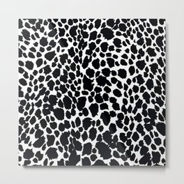 Animal Print Cheetah Black and White Pattern #4 2019 Metal Print