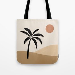 Desert Sun Palm Tote Bag