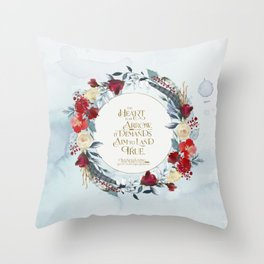 The heart is an arrow... Six of Crows Quote Throw Pillow