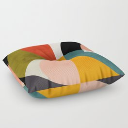 geometry shapes 3 Floor Pillow