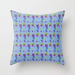 Modern geometric abstract 15b light blue pattern Throw Pillow