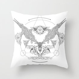 Ichthyosaurus Occultis Throw Pillow