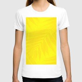 Palm Leaves Bright Yellow Color #decor #society6 #buyart T-shirt