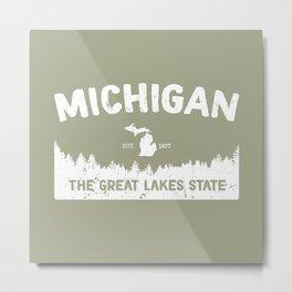 Michigan, The Great Lakes State Metal Print