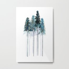 Original Siberian Forest Metal Print