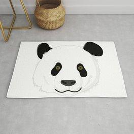 Cute Smiling Panda Bear Face Rug