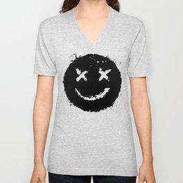 Confused Smile Unisex V-Neck