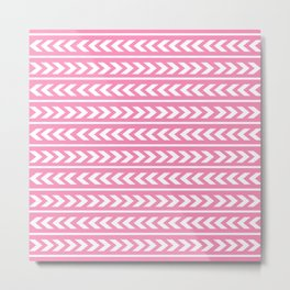 Pink Triangart Metal Print