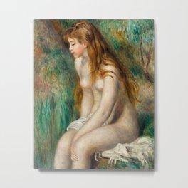 Young Girl Bathing - Auguste Renoir Metal Print