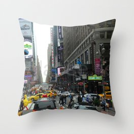 Sesame In The City Throw Pillow