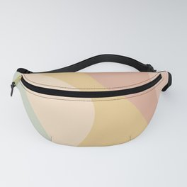 Abstract Color Waves - Neutral Pastel Fanny Pack