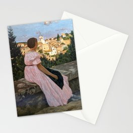 Frederic Bazille artwork - The Pink Dress Stationery Cards
