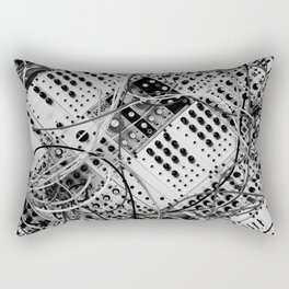 analog synthesizer  - diagonal black and white illustration Rectangular Pillow