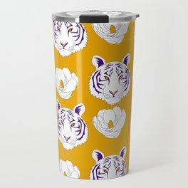 LSU yellow Travel Mug